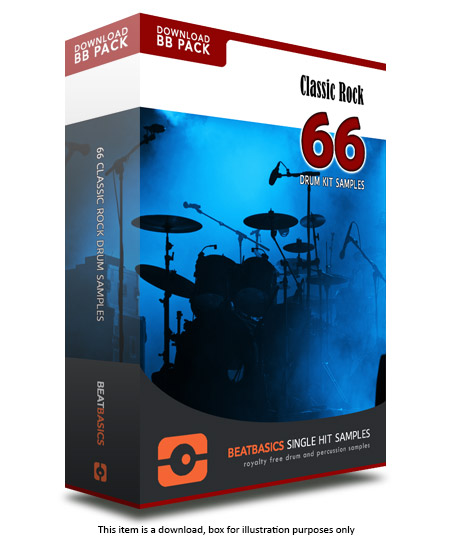 Classic Rock Drum Samples v1 - Single hit drum samples