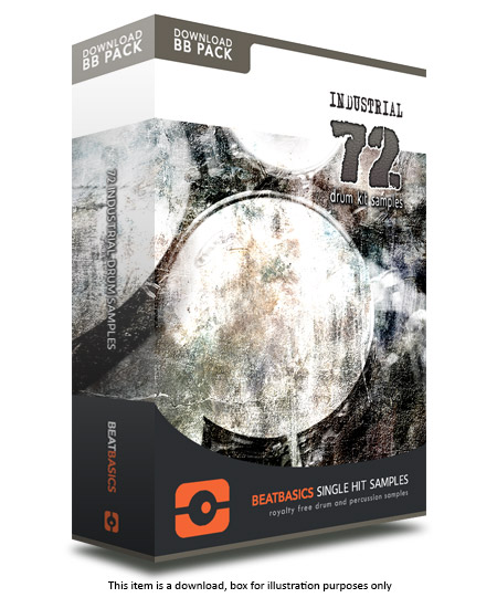 Industrial Drums Samples v1 - Single hit drum samples