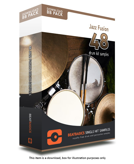 Jazz Fusion Drum Samples v1 - Single hit drum samples
